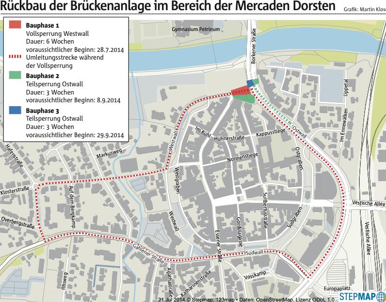 Ruhrnachrichten nutzt OpenStreetMap für Dorsten