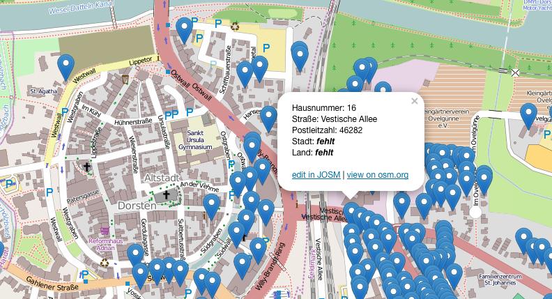 Unvollständige Adressen in OSM finden
